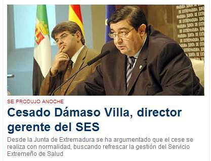 Damaso Villa, cesado