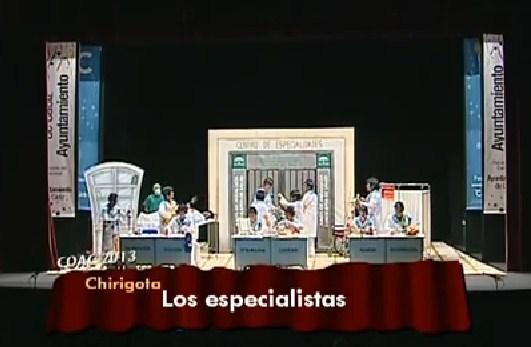 Los Especialistas (Chirigota de Caí)